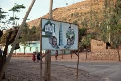 Axum Road Sign