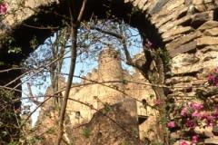 Gondar Castle through archway