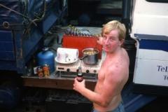Steve Cooking Dinner