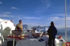 Cuche manning the Kuklos Ice Bar