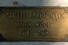 Trim Lodge Brass Plate